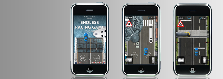Learn how the Endless Racing game for iPhone has got over 1 million downloads