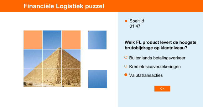 Advergame for Rabobank Financial Logistics