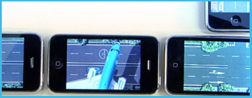 Mobile marketing campaign by Novocortex Endless Racing Game for iPhone
